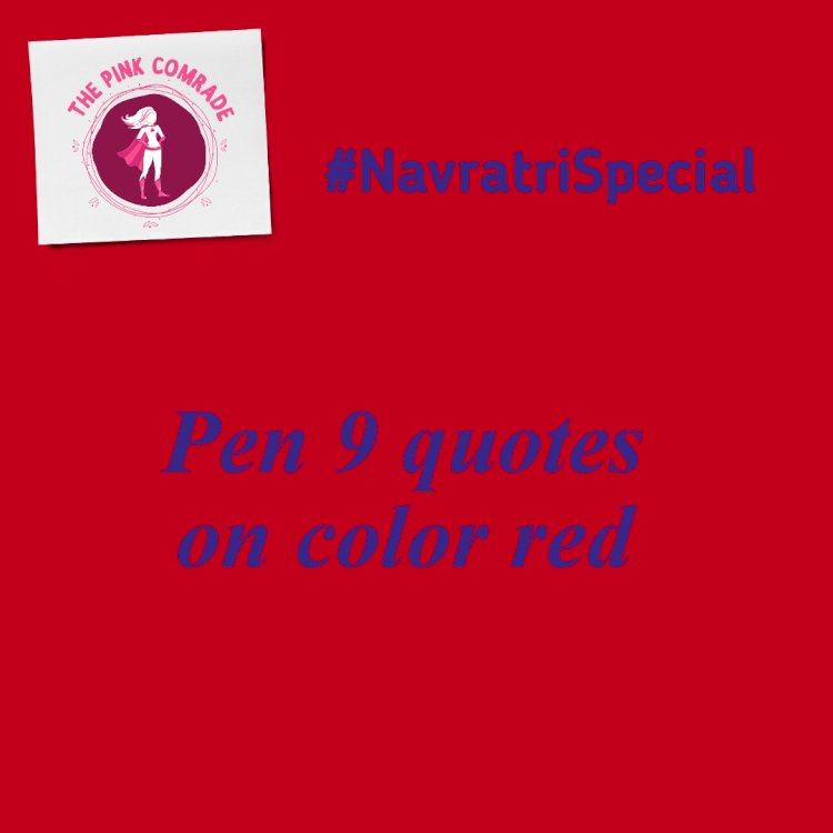 Navratri Pink Echo #red #9quotes